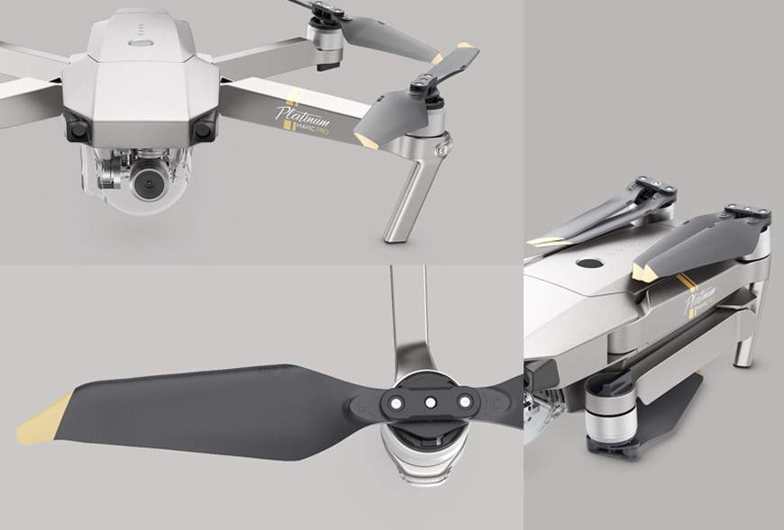 Verwonderend DJI Mavic Pro Platinum portable camera drone NX-33