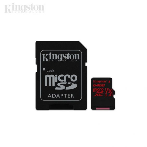 Kingston Canvas React MicroSD geheugenkaart - 64GB