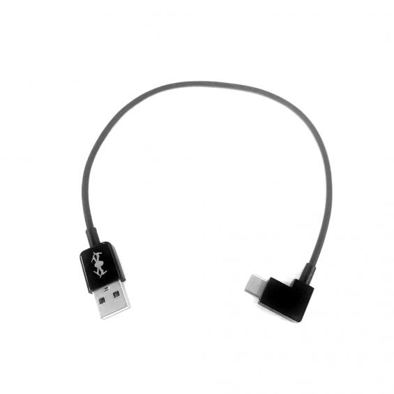 USB naar Type-C 90º kabel - 30cm