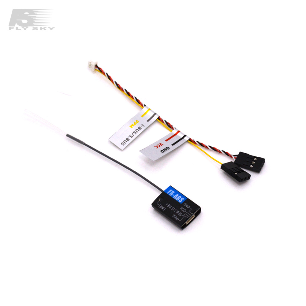 FlySky FS-A8S V2 2.4G 8-kanaals Mini Receiver