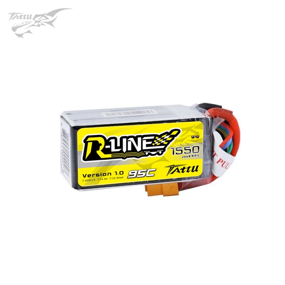 Tattu R-Line 1550mAh 14.8V 95C 4S LiPo Accu