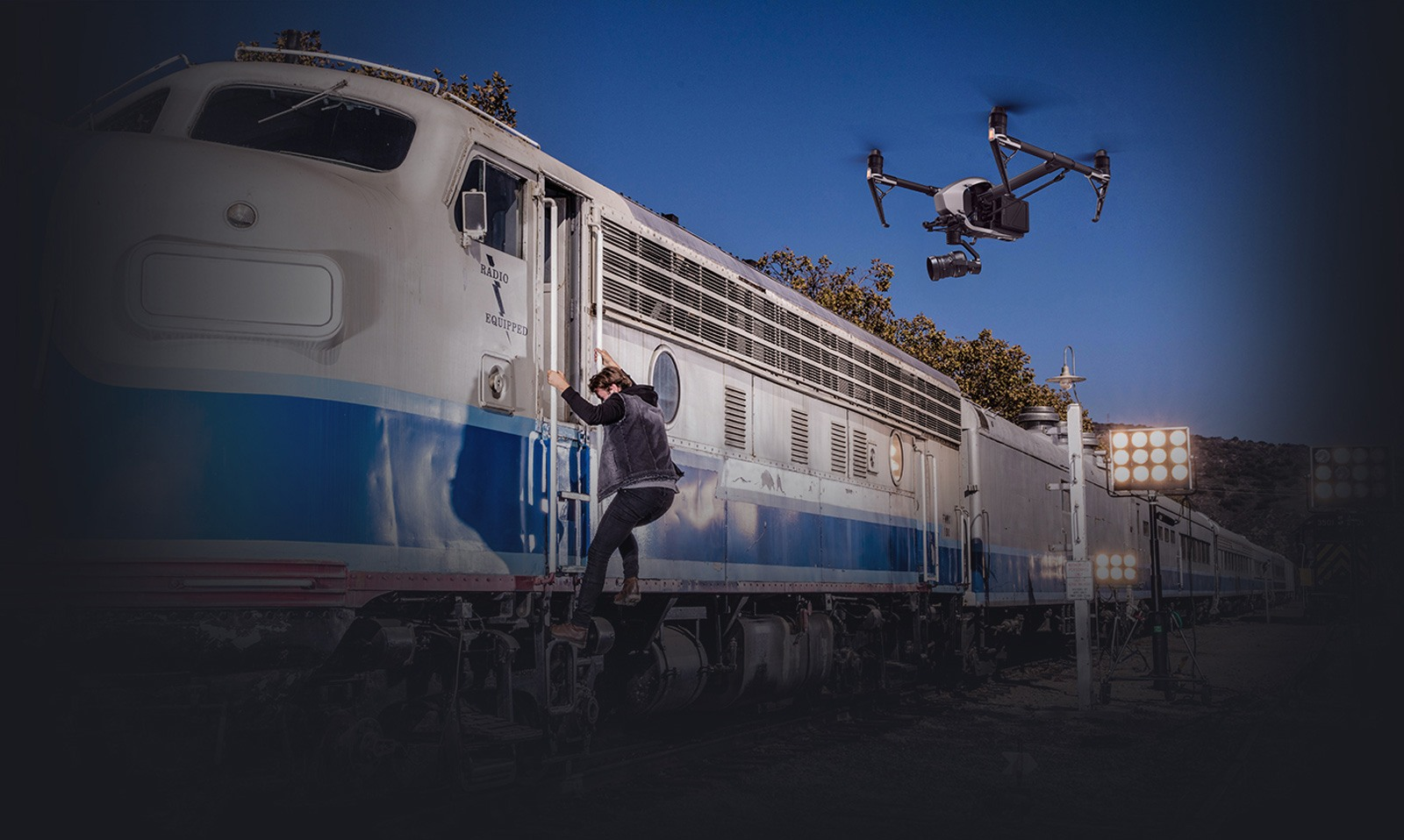 DJI Inspire 2 auto follow drone