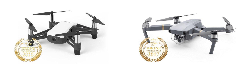 Drone van het Jaar 2018 en 2017