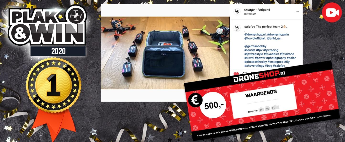 1e prijs: 500 euro shoptegoed